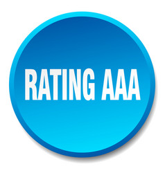 Rating aaa blue round flat isolated push button vector