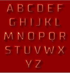 red font design set vector image