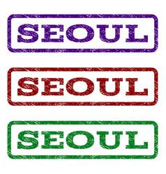 Seoul watermark stamp vector