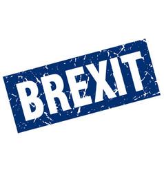 Square grunge blue brexit stamp vector