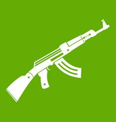submachine gun icon green vector image