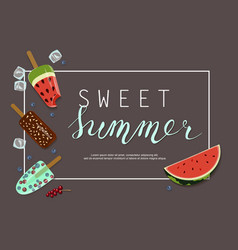 summer ice-cream menu vector image