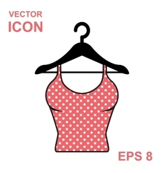 Sundress icon evening dress combination or vector