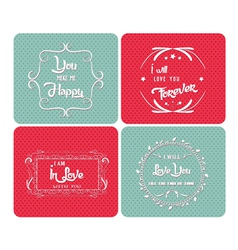Valentine day postertypography ornaments vector