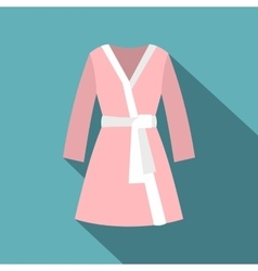 Bathrobe icon flat style vector