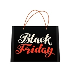 Sale black friday bag for shopping vector