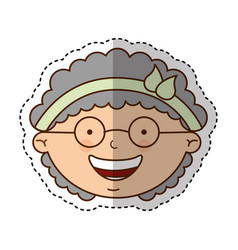 Cute grandmother character icon vector