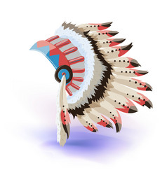 native american indian headdress color vector image