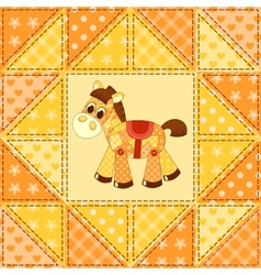 Application horse seamless pattern vector image