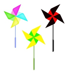 Weather vane in a shape of flower vector