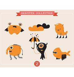 cute monsters set of vector image