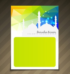 Shiny islamic festival template vector