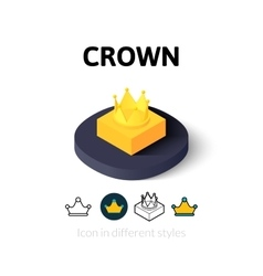 Crown icon in different style vector
