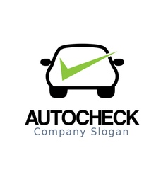 Auto car check design vector