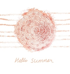 hand drawn watercolor floral summer vector image