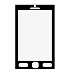 Cellphone with three buttons on front vector