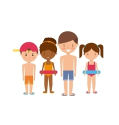 Kids icon summer and vacation design vector