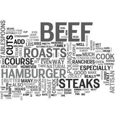 A good steak is hard to find text word cloud vector