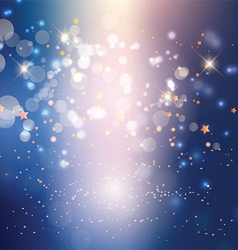 abstract lights and stars background 0106 vector image vector image