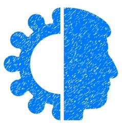 Android head grainy texture icon vector