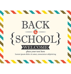 Back to School postcard background template vector image