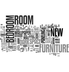 Bedroom furniture text word cloud concept vector