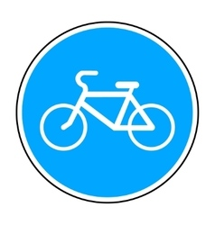 Bicycle round sign vector