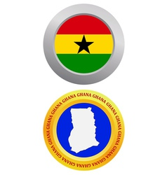 button as a symbol GHANA vector image