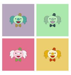 Circus clown collection vector