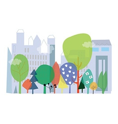 City and nature ecology - concept with flo vector image vector image
