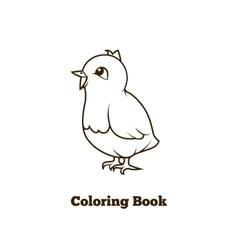 Coloring book chicken cartoon educational vector