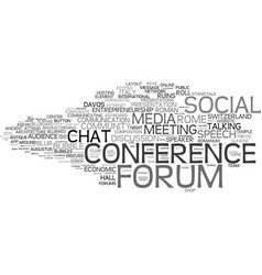 Forum word cloud concept vector