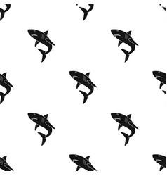 Great white shark icon in black style isolated on vector