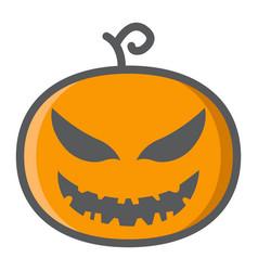 Halloween pumpkin filled outline icon halloween vector