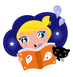 halloween story book vector image vector image