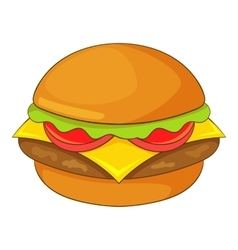 Hamburger icon cartoon style vector