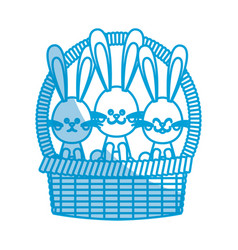 Happy easter bunny basket ornament celebration vector