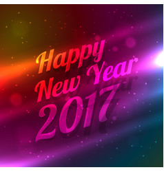 Happy new year celebration wallpaper with light vector