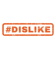 Hashtag Dislike Rubber Stamp vector image vector image