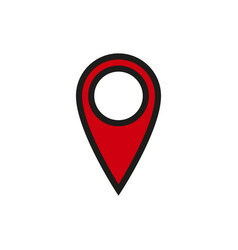 location icon on white background vector image vector image