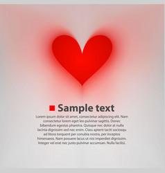 paper heart postcard vector image