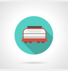 Rail car blue round icon vector