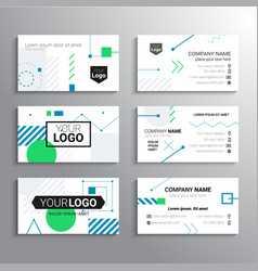 Set of business cards - template abstract vector