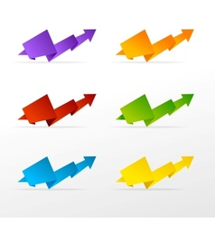 set of colorful arrow vector image vector image