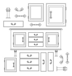 sideboard flat design it is executed in th vector image vector image