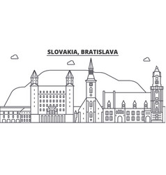 slovakia bratislava architecture line skyline vector image vector image