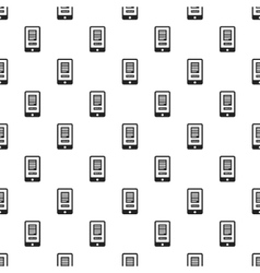 Smartphone with translate application pattern vector
