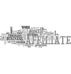 Work at home affiliate revenue text word cloud vector
