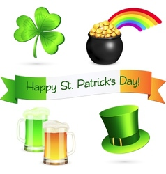 Saint Patricks Day design elements set vector image
