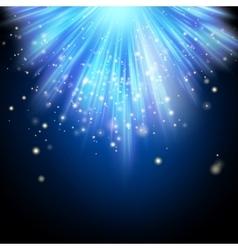 Blue shining magic light background EPS 10 vector image